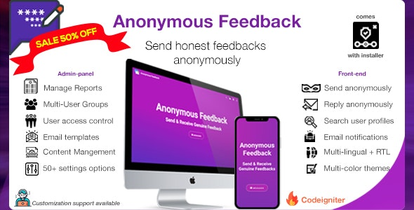 Anonymous Feedback v2.10.2 – Get honest feedback