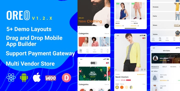 Oreo Fashion v1.2.4 - Full React Native App for Woocommerce