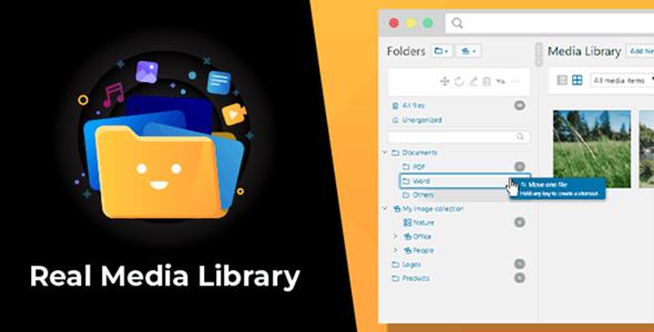 WordPress Real Media Library v4.6.1 - Folder & File Manager for WordPress Media Management