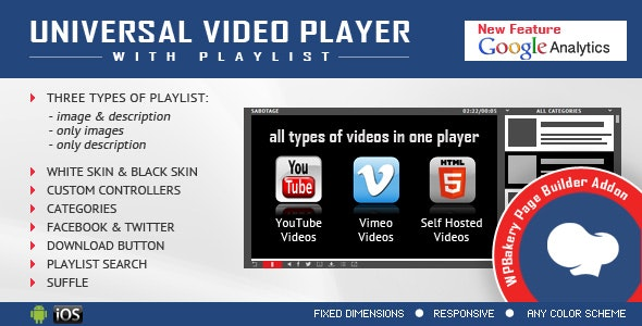Universal Video Player for WPBakery Page Builder v2.5