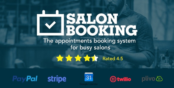 Salon Booking v3.4.4.1 - WordPress Plugin