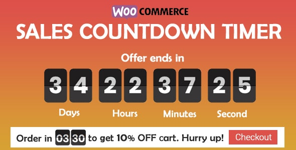 Checkout Countdown v1.0.1.3 - Sales Countdown Timer for WooCommerce and WordPress