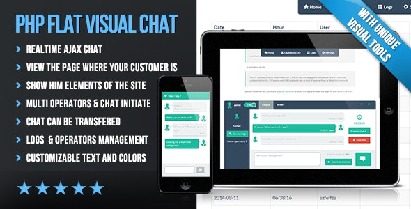 PHP Flat Visual Live Chat v4.231