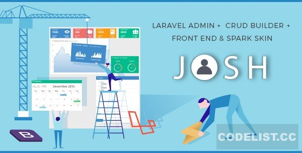 Josh v7.1 - Laravel Admin Template + Front End + CRUD