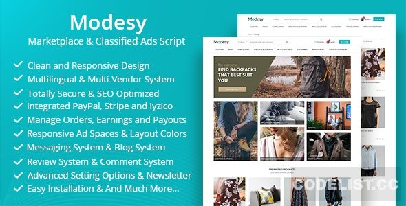 Modesy v1.8 - Marketplace & Classified Ads Script - nulled