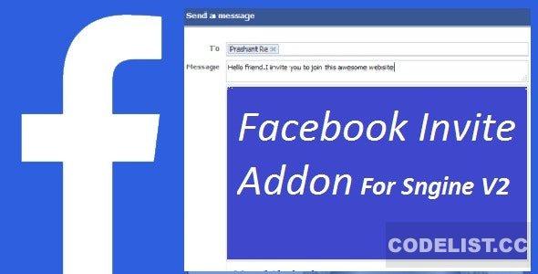 Facebook Invite Addon For Sngine v2.6