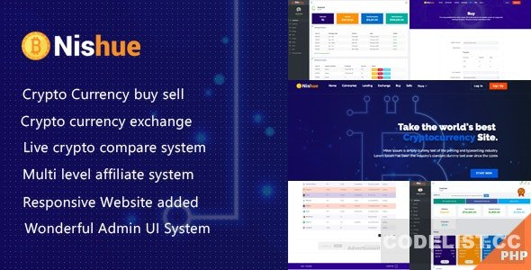 Nishue v3.8 - CryptoCurrency Buy Sell Exchange and Lending with MLM System - nulled