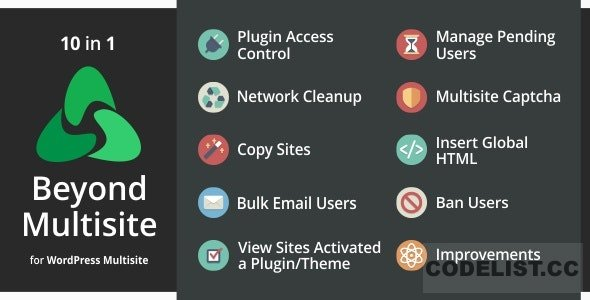 Beyond Multisite v1.12.0 - Utilities for WordPress Network Admins
