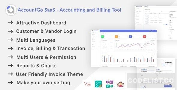 AccountGo SaaS v1.0 - Accounting and Billing Tool