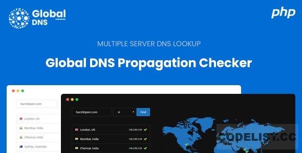 Global DNS v1.0 - Multiple Server - DNS Propagation Checker - PHP
