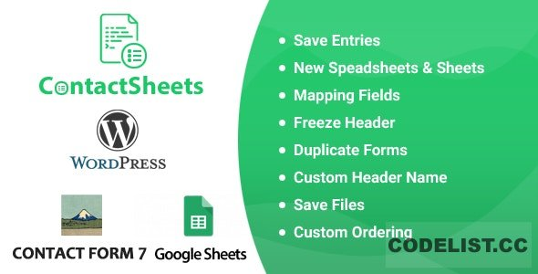 ContactSheets v1.7 - Contact Form 7 Google Spreadsheet Addon