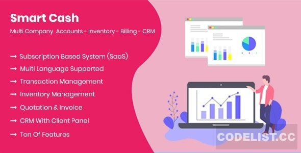 Smart Cash v3.1 - Multi Company Accounts Billing & Inventory (SaaS)