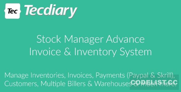 Stock Manager Advance (Invoice & Inventory System) v3.4.35