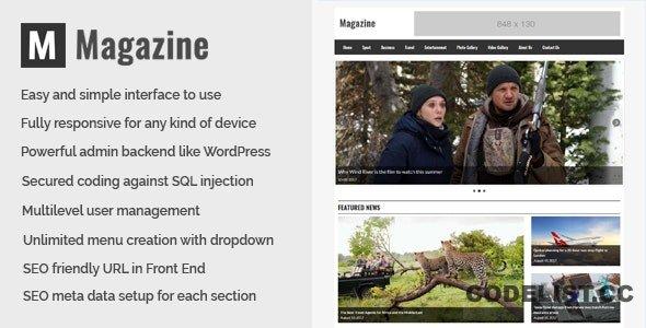 Magazine v1.0 - Online News and Magazine CMS