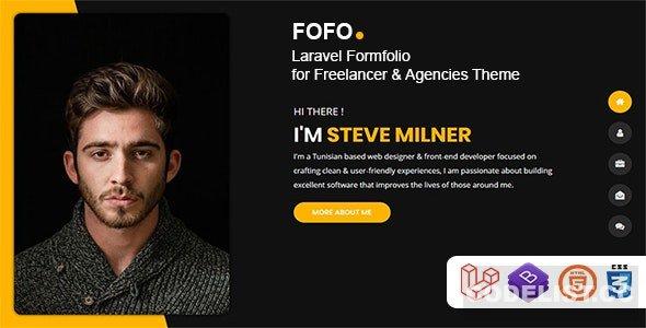 Fofo v1.0 - Laravel Formfolio for Freelancer & Agencies Theme
