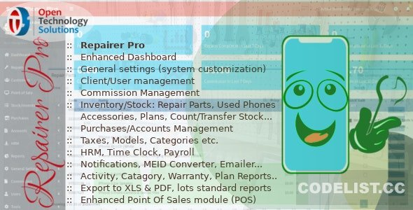 Repairer Pro v1.2.0 - Repairs, HRM, CRM & much more
