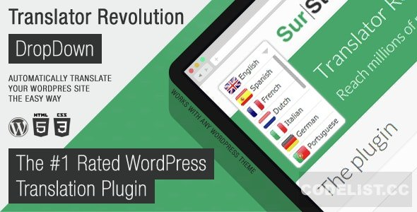Ajax Translator Revolution v2.1 - DropDown WP Plugin