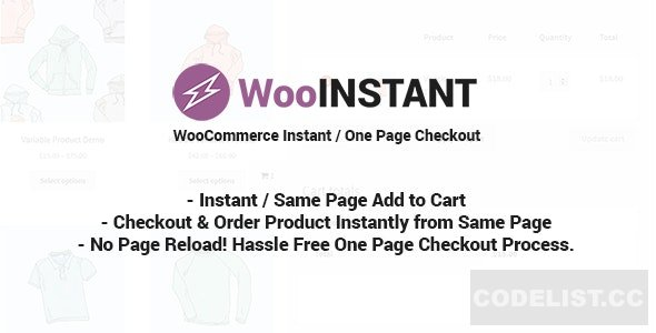 WooInstant v2.0.18 - WooCommerce Instant / Quick / Onepage / Direct Checkout