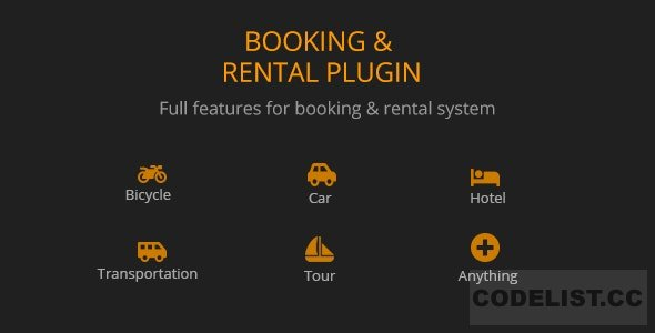 BRW v1.1.9 - Booking Rental Plugin WooCommerce