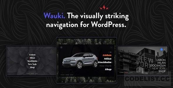 Wauki v1.0 - Fullscreen WordPress Menu