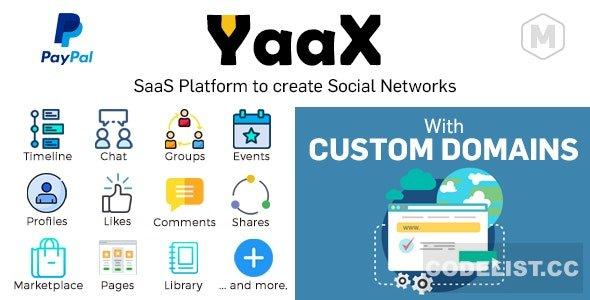 YaaX v1.3.0 - SaaS platform to create social networks - With Custom Domains