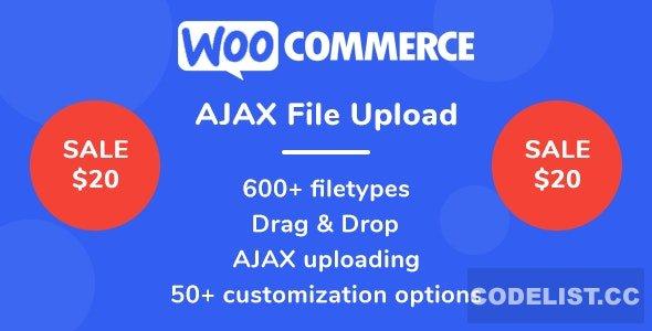 WooCommerce AJAX File Upload (600+ filetypes) v2.0.0