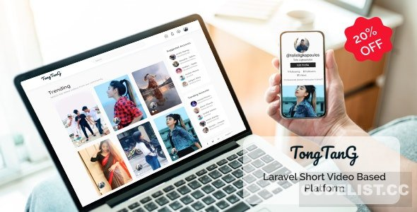 TongTang v1.0 - Laravel Short Video Sharing Platform