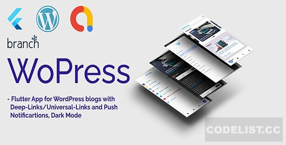WoPress v1.0 - Flutter App For WordPress News Sites and Blogs