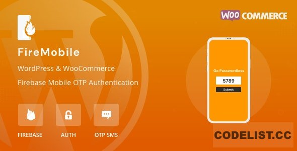FireMobile v1.0.1 - WordPress & WooCommerce firebase mobile OTP authentication