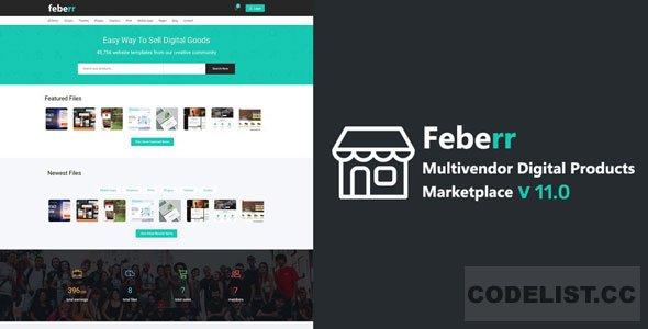 Feberr v11.0 - Multivendor Digital Products Marketplace
