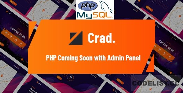 Crad v1.0.1 - PHP Coming Soon with Admin Panel