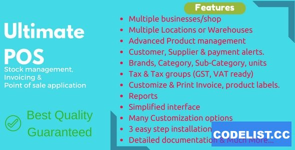 Ultimate POS v4.3 - Best ERP, Stock Management, Point of Sale & Invoicing application - nulled