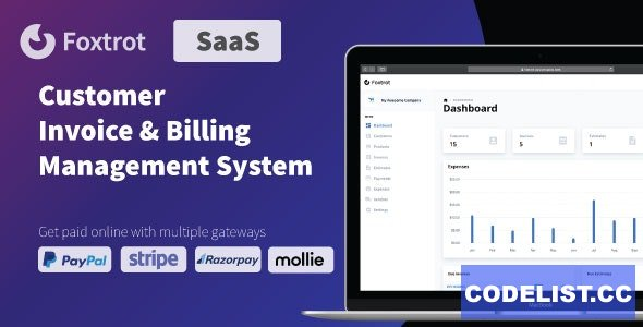Foxtrot (SaaS) v1.0.6 - Customer, Invoice and Expense Management System