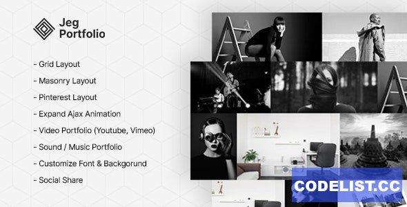 Jeg Portfolio v1.0.1 - Responsive Portfolio & Gallery Plugin For WordPress