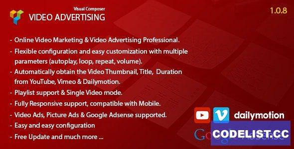 Video Advertising v1.0.8 - Addon For Visual Composer