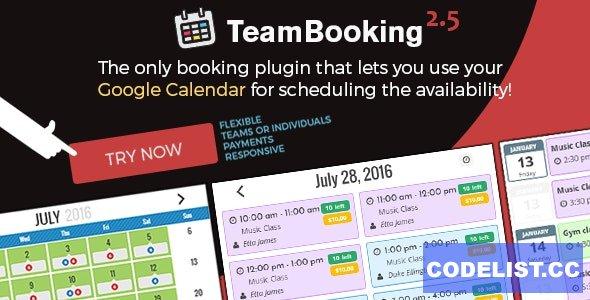 Team Booking v2.5.8 - WordPress booking system