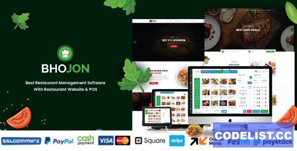 Bhojon v2.7 - Best Restaurant Management Software with Restaurant Website - nulled
