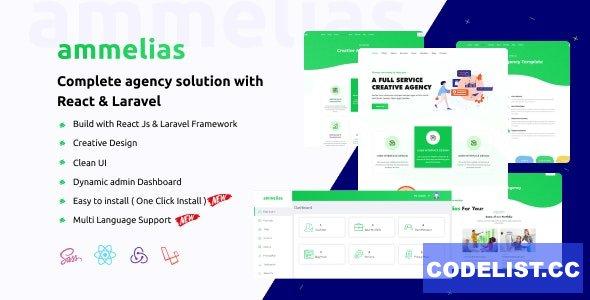 Ammelias v1.4 - Laravel React Agency CMS