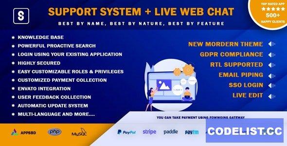 Best Support System v3.2.0 - Live Web Chat & Client Desk & Ticket Help Centre - nulled