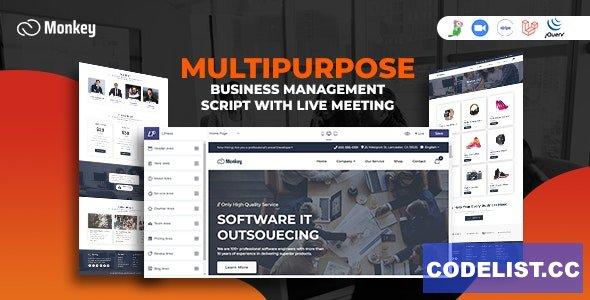 Monkey v2.0 - Laravel Multipurpose Website CMS & Business Agency Management With Live Meeting
