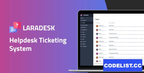 Laradesk v1.1.2 - Helpdesk Ticketing System
