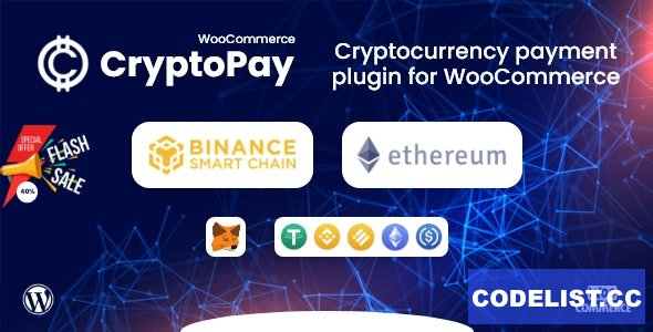 CryptoPay WooCommerce v1.0 - Cryptocurrency payment plugin
