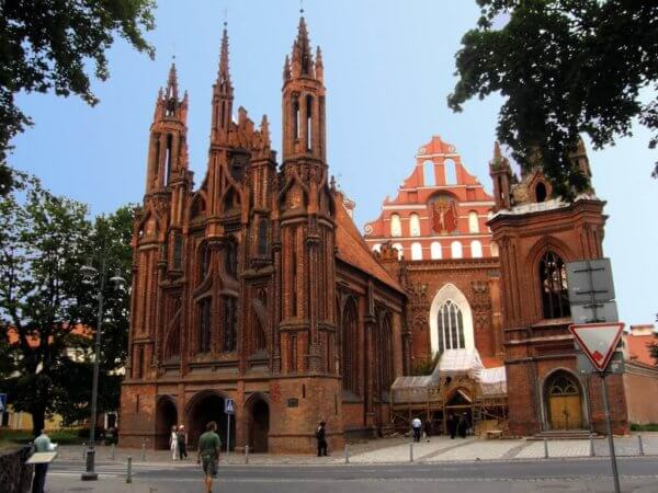 St. Anne and Bernardine Churches Vilnius