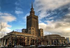 Palace of Culture and Science Warsaw near Marshal Street