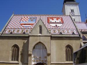 Roof St Marks Church Zagreb