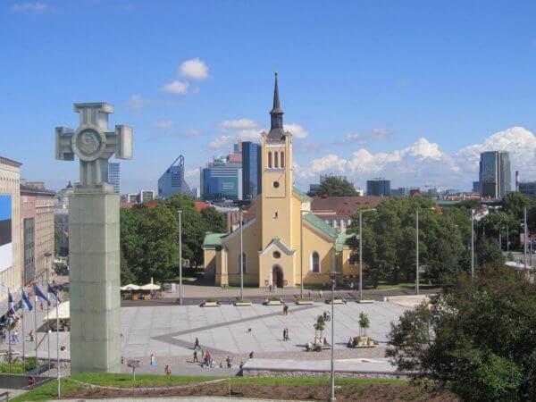 Freedom Sqaure Tallinn Rotermann Quarter