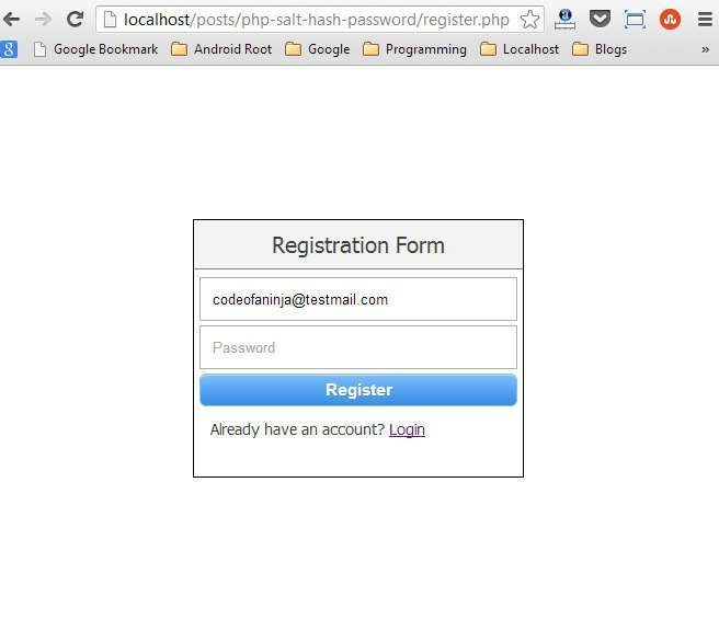 Registration form.
