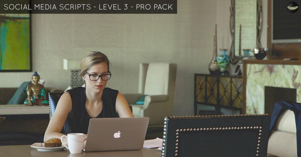 social media script level 3 pro pack
