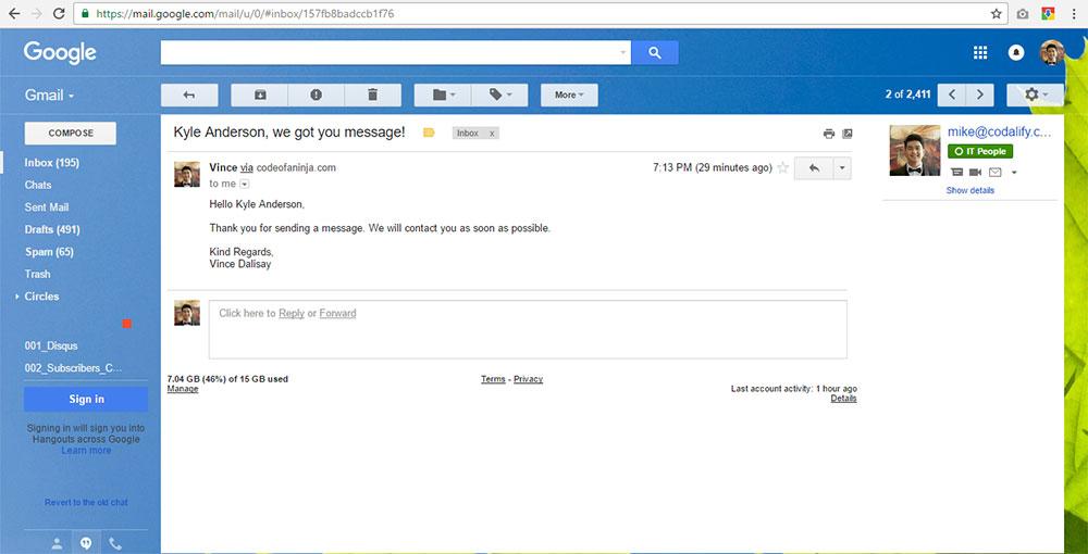 PHP Contact Form Script - Messages Module - Download Now!