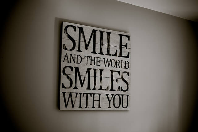 Happiness Quote on Wall